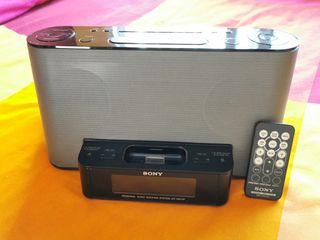 Radio Sony con estación pra Iphone / Ipod