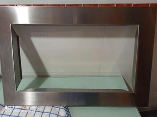 vendo marco acero para microondas