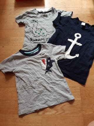 339. lote 3 camisetas manga corta 24 meses