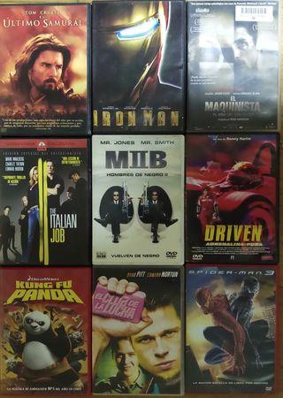 lote de 9 películas en dvd