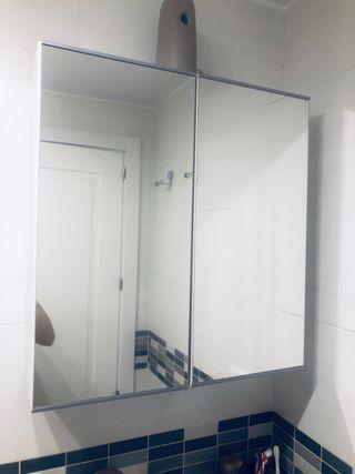Armario espejo baño blanco LEROY MERLIN 40€