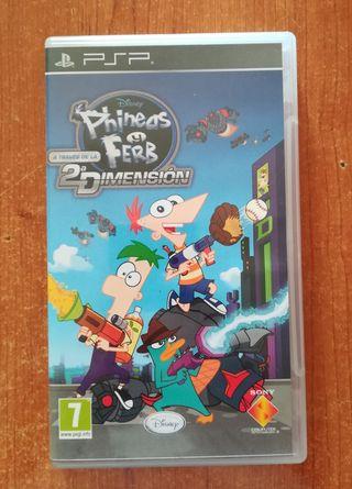 Videojuego PSP Phineas&Ferb