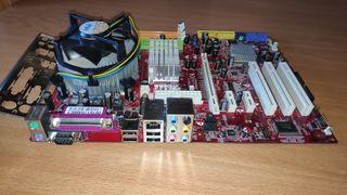 Placa base socket 775 + procesador