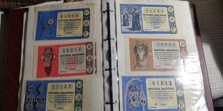 Colección billetes de loteria