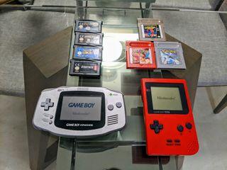 Game Boy Pocket y Game Boy Advance + Juegos
