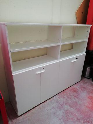 aparador estantería blanca