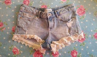 pantalones short vaquero
