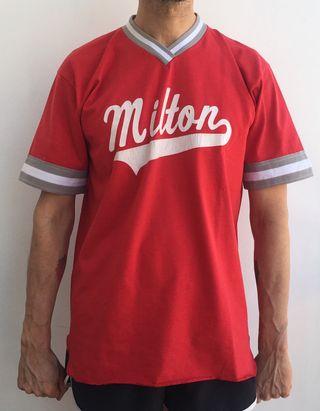 Camiseta fútbol americano Milton roja talla L