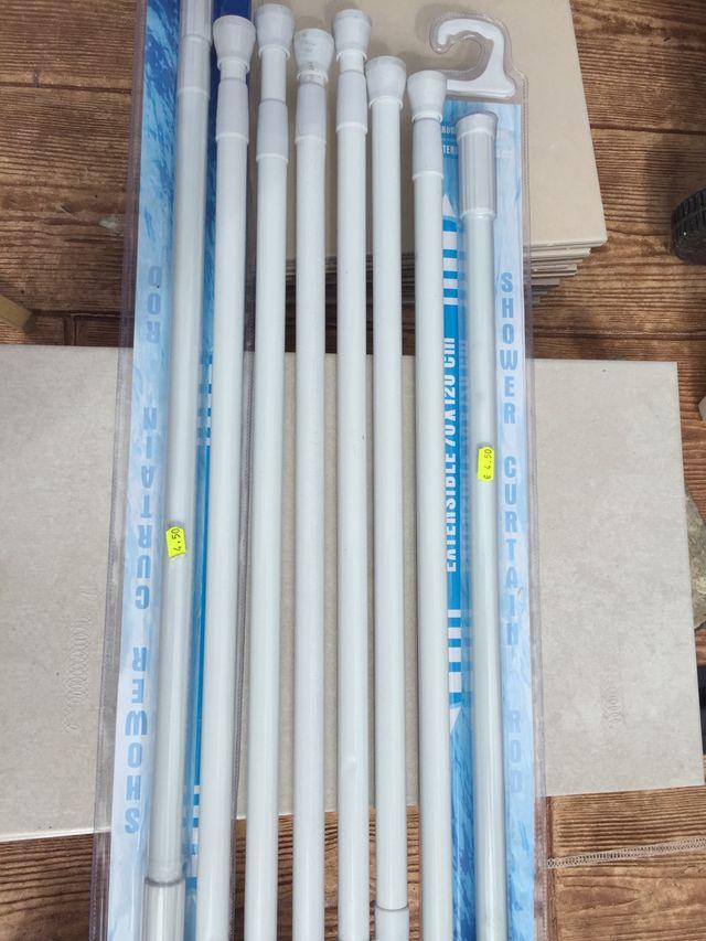 Pack de 8 barras extensibles para cortinas