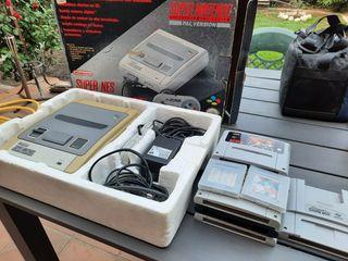 Super Nintendo (SNES) + 7 juegos