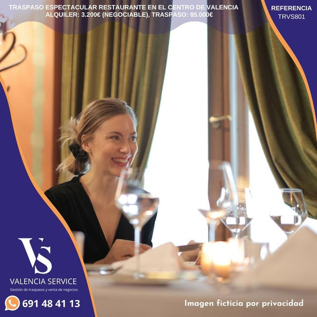 Traspaso Restaurante en Valencia.