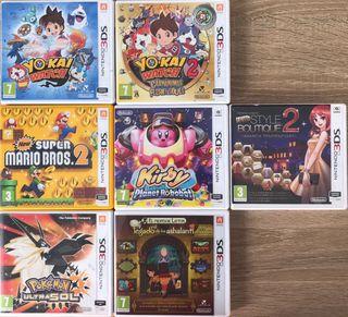 Juegos para la Nintendo 3Ds, 5€ cada uno