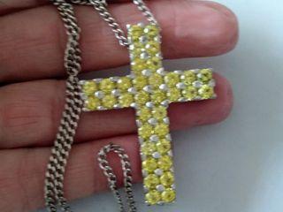Colgante Cruz plata de ley Y Circonitas