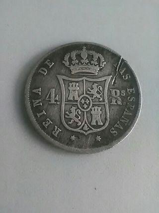 4 REALES 1853 -PLATA-