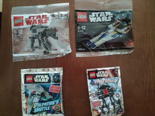 Lote de 4 naves Star Wars de Lego originales
