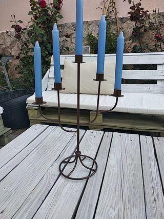 Candelabro para velas de metal