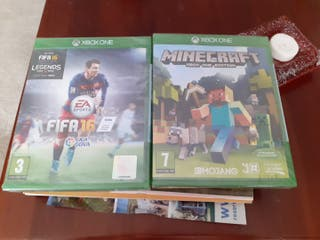 Juegos XBOX ONE Minecraft y FIFA 16