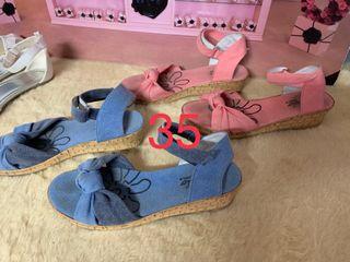 lote 5 sandalias de verano para niña 34- 35 y 36