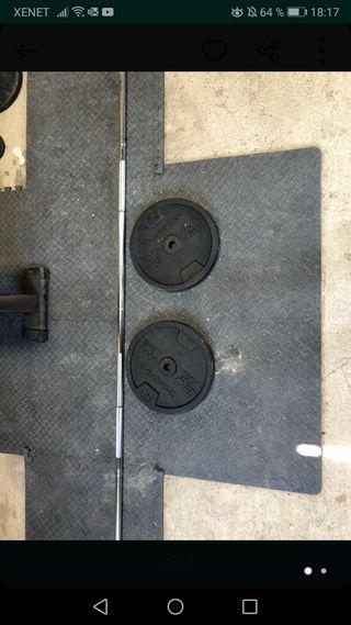 Barra 1,60 y Discos