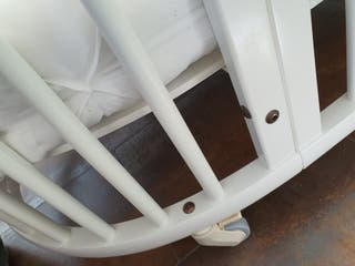Cuna y mini cuna de Stokke blanca completa