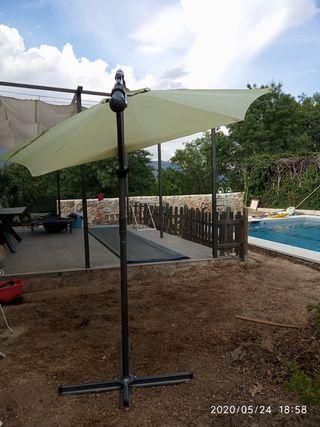 Sombrilla de jardín 3 metros de diámetro