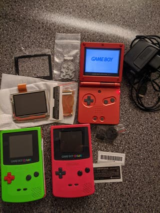 Lote de repuestos de GameBoy Color y Advance SP