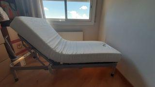 cama articulada electrica + colchon de latex
