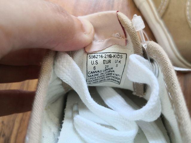 zapatillas tela levis unisex niños