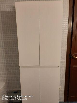 Armario baño blanco