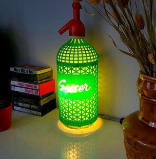 lampara sifon vintage Geiser luz ambiente cálida