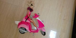 Moto de Barbie+1 muñeca