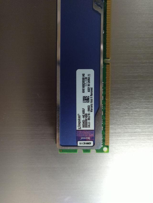 Memoria RAM Kingston Hyper Blu. 4Gb DDR3