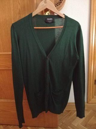 Cardigan, chaqueta verde hombre