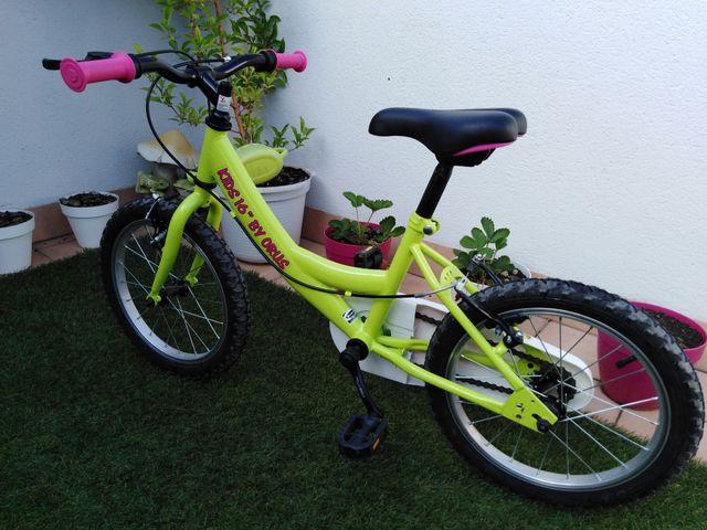 Bicicleta infantil de 16 pulgadas