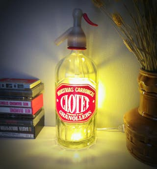 lampara sifon Clotet vintage luz ambiente calida