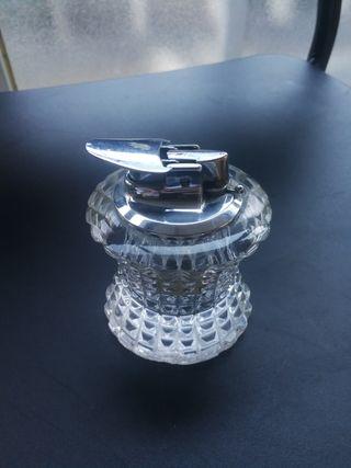 mechero de cristal coleccionista RONSON