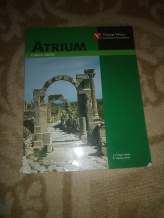 libro Atrium Cultura Clásica 3Eso Vicens Vives
