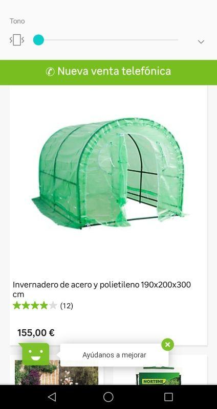 Invernadero acero y polietileno 190×200×300.