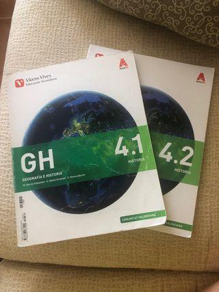 libros de geografía e historia (4 eso)