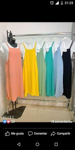 vestido talla unica amarillo