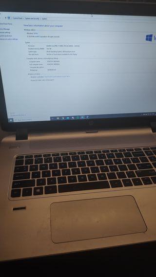 Portátil HP Envy 17 pulgadas, mejorado con SSD
