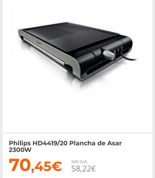 Plancha asar Philips HD4419 2300W