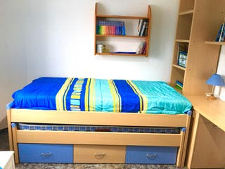 Habitación nido con dos camas casi sin uso