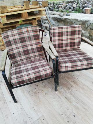 sillones antiguos de hierro