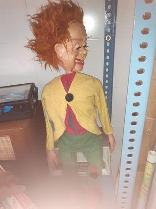 antiguo muñeco ventrílocuo parlanchín