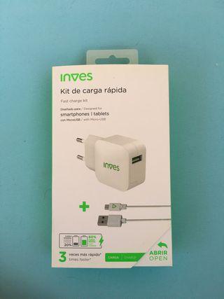 Cargador de red USB a Micro USB