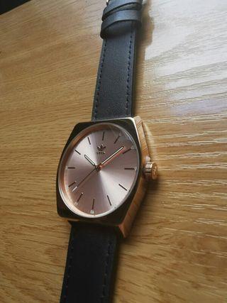 Reloj Adidas Mujer oro rosa piel azul NUEVO