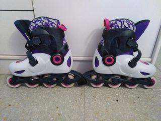 patines niña con bolsa