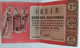 Boleto loteria 1961