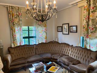 Sofa en esquina de castao